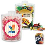 Custom Acrylic Snack Jar Container Filled w/ Hershey Miniatures