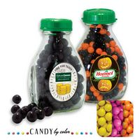 165554455-105 - Milk Pint Glass Bottle Filled w/ Sixlets - thumbnail