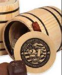 Custom Sea Salt Caramels in Wood Barrels