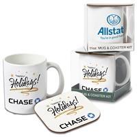 Mug & Hard Coaster Gift Set