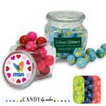 Custom Reusable Glass Spice Jar Filled w/ Jelly Belly