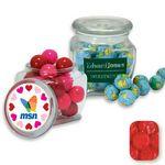 Custom Reusable Glass Spice Jar Filled w/ Red Raspberry Dollars