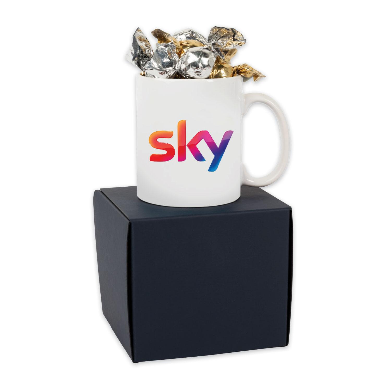 Soft Touch Modern Gift Box with Premium Candy (Mug & Truffles)