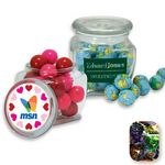 Custom Reusable Glass Spice Jar Filled w/ Fruit Filled Wrapped Candy