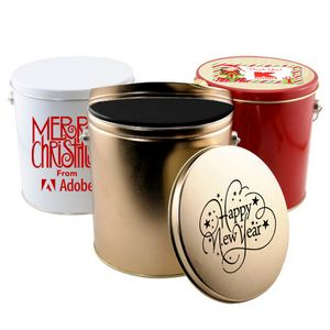 Empty 1 Gallon Gift Tin