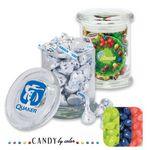 Custom Air Tight Gourmet Glass Jar Filled w/ Jelly Belly