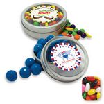Custom Rim Tin w/ Window Assorted Jelly Beans Candy by Color