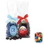 Custom Stand Up Bag w/ Bow Filled w/ Assorted M&M's