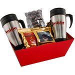 Custom Tray w/ Mugs and Chocolate Covered Almonds