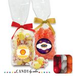 Custom French Bottom Stand Up Bags w/ Bows Filled w/ Gumball