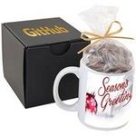 Custom Ceramic Mug Gift Set w/Milk Chocolate Pretzels