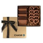 Custom 6 Piece Cookie & Confection Gift Box with Pretzels