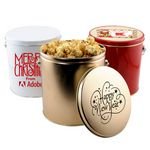 Custom 1 Gallon Gift Tin w/Caramel Popcorn