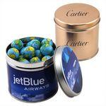 Custom Round Tin w/Chocolate Globes
