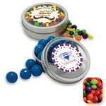 Custom Rim Tin w/ Window Assorted Nitwitz Candy by Color