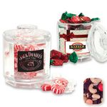 Custom Beveled Reusable Acrylic Jar Filled w/ Rainbow Delight Mix