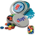 Custom Solid Circular Tin Assorted M&M's Candy by Color