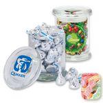 Custom Air Tight Gourmet Glass Jar Filled w/ Sour Patch Kids
