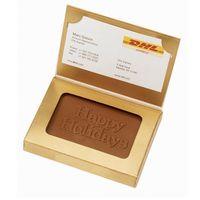 Custom Molded Chocolate in Business Card Box
