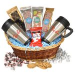 Custom Premium Mug Gift Basket-Mini Pretzels
