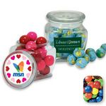 Custom Reusable Glass Spice Jar Filled w/ Assorted M&M's