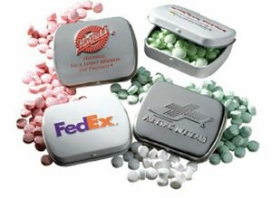 Embossed Mini Mint Tin w/Mints