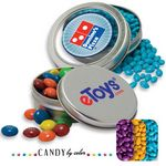 Custom Solid Circular Tin- Chocolate Sunflower Seeds Candy by Color