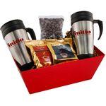 Custom Tray w/Mugs and Chocolate Covered Raisins
