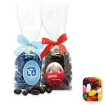 Custom Stand Up Bag w/ Bow Filled w/ Assorted Jelly Beans