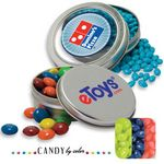 Custom Circular Window Tin Assorted- Jelly Belly Candy by Color