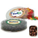 Custom Acetate Container Candy Platter Filled w/ Milk Chocolate Raisins