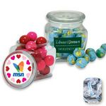 Custom Reusable Glass Spice Jar Filled w/ Wrapped Hershey Kisses