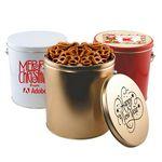 Custom 1 Gallon Gift Tin w/Pretzels