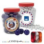 Custom Apothecary Tub Resealable Container Filled w/ Gumballs