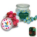 Custom Reusable Glass Spice Jar Filled w/ Strawberry Delights