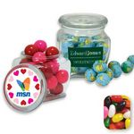 Custom Reusable Glass Spice Jar Filled w/ Assorted Jelly Beans