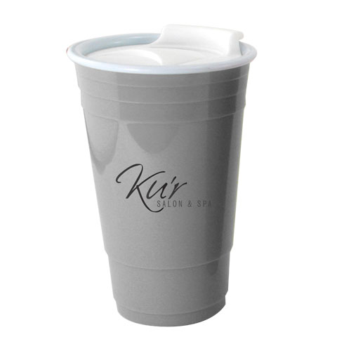 16 Oz. Insulated Party Cup w/Spillproof Lid