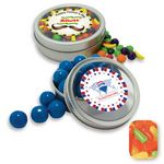 Custom Rim Tin w/ Window Assorted Mike & Ike's Candy by Color