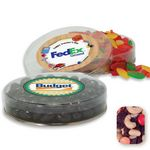 Custom Acetate Container Candy Platter Filled w/ Rainbow Delight Mix