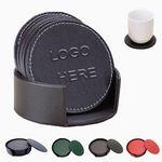 Custom 6 Leather Coaster Gift Set