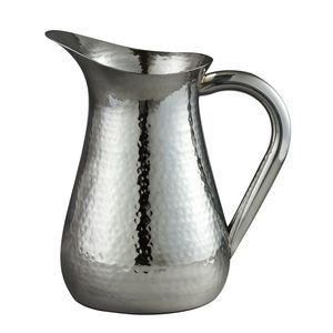 48 Oz Hammered Stainless Steel Water Pitcher 72606 Ideastage Promotional Products