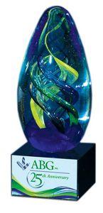 Egg Swirl Glass Art