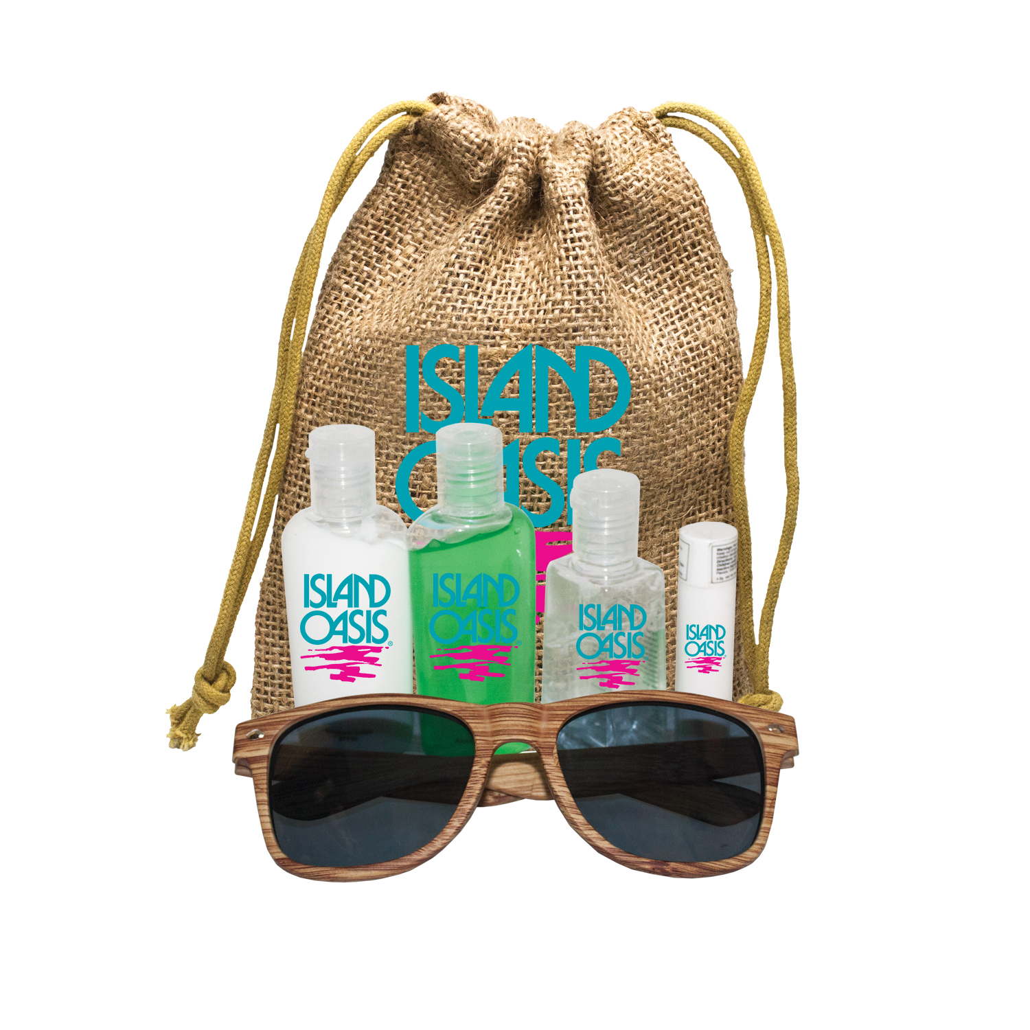 Jute Sun Kit with Faux Wood Frame Sunglasses