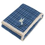 Custom Field & Co. Plaid Sherpa Blanket w/Full Color Car