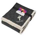 Custom Field & Co. Heathered Fleece Sherpa Blanket w/Card