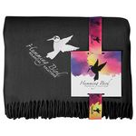 Custom Acrylic Throw Blanket with Full Color Card
