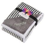 Custom Field & Co. Chevron Striped Sherpa Blanket w/Card