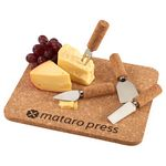 Custom Cork 5 Piece Cheese Serving Set