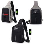 Custom Crossbody Sling Messenger Bag with USB Charging