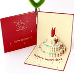 Custom 3D Exquisite Birthday Cards with Cake